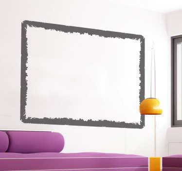 Naklejka na ścianę ramka w stylu grunge