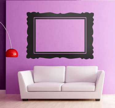 Decorative sticker of the most recognisable molding frame in the world. A classic decorative frame. Available in 50 colours.