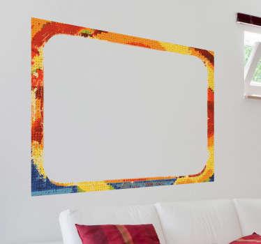 Textuur frame rechthoek kleuren sticker
