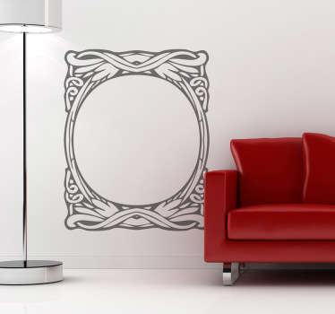 Modernist Circular Frame Wall Sticker