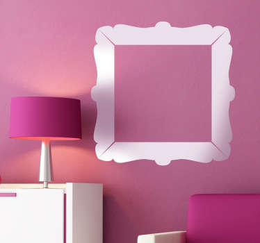Classic decorative square frame sticker that you can use to customise the walls of your home. Transform boring and dull walls into something more fun, with elegant designs and colours that you can choose to suit you best.