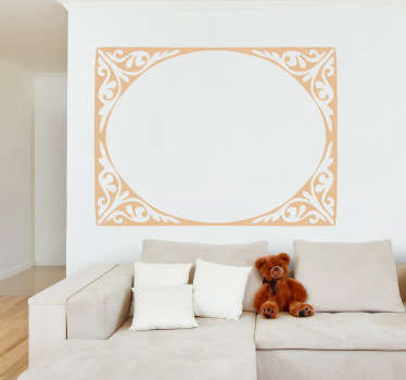 Wall Stickers- Classic and elegant elliptical frame feature. Decorate your home with a touch of colour. Available in various sizes and in 50 colours.