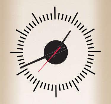 Vinilo decorativo líneas reloj