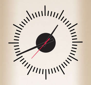 Sticker horloge lignes