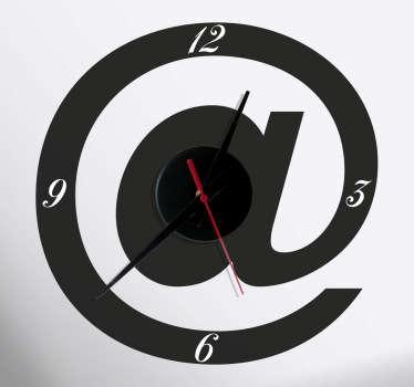 Sticker horloge arobase