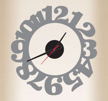 Sticker muur klok nummers