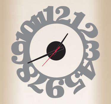 Sticker horloge chiffres accolés
