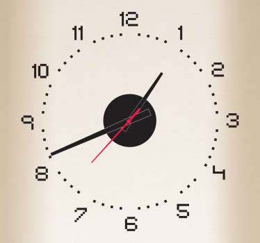 Naklejka dekoracyjna zegar piksele