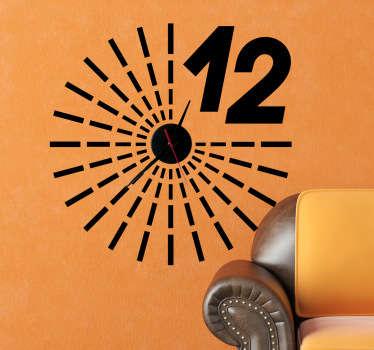 Wandtattoo Uhr Design Große 12