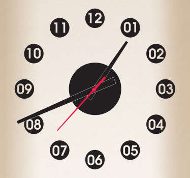 Dotted Clock Sticker
