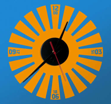 A superb clock decal to decorate your home and maintain that simple and elegant atmosphere. Adds a touch of fun and uniqueness to your home