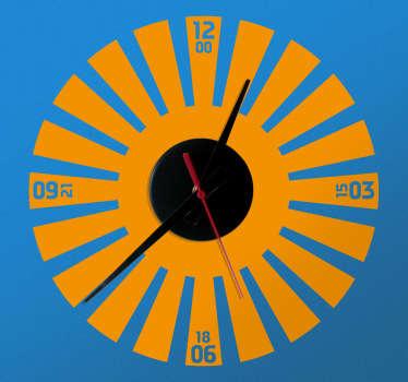 Naklejka dekoracyjna zegar promienie