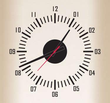 Seconds Dashboard Style Clock Sticker
