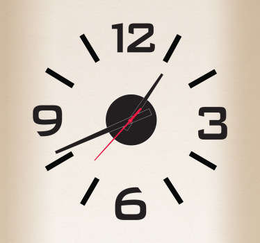 Wandtattoo Uhr schlichtes Design