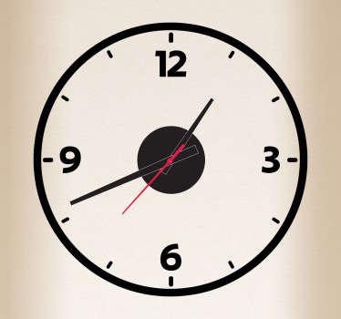 Bold Circle Line Clock Sticker