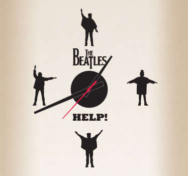 Beatles Help Clock Sticker