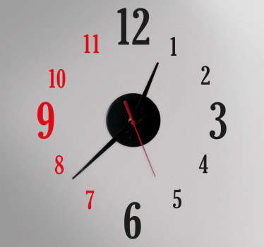 Two Colours Clock Sticker