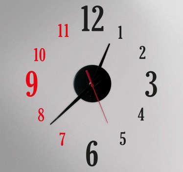 Zweifarbige Uhr Aufkleber