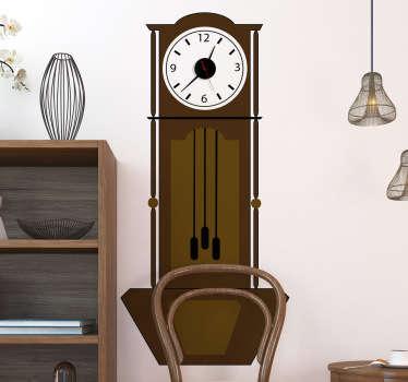 Klassische Wandtattoo Uhr