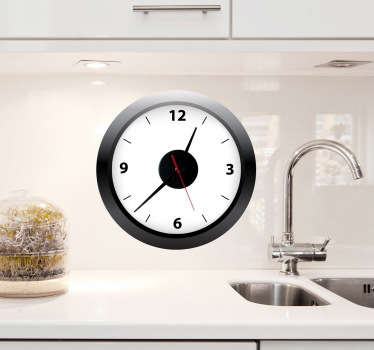 Vinil decorativo relógio de cozinha