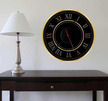 Gold Roman Numerals Clock Sticker