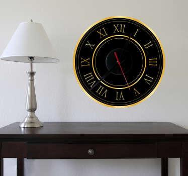 Gold Roman Numerals Clock Sticker