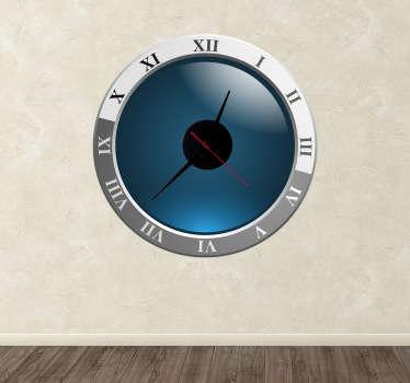 Modern Roman Numerals Clock Sticker