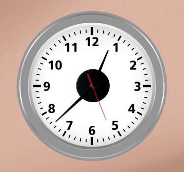 Sticker horloge salon