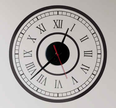 Wall Clocks - Classic train station clock design with roman numerals. Simple and distinctive, ideal for decorating your home