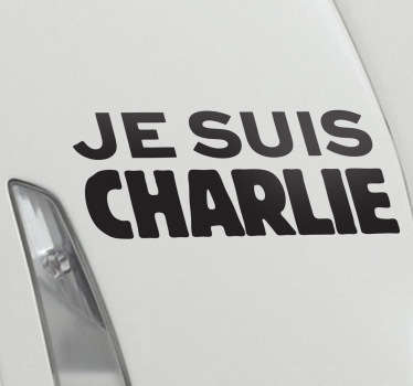 Vinil decorativo je suis Charlie