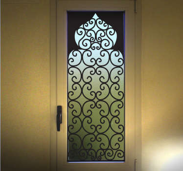 아랍 스타일의 창문 데칼