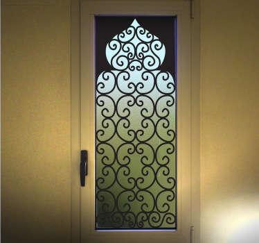 Vinilo decorativo vidriera árabe