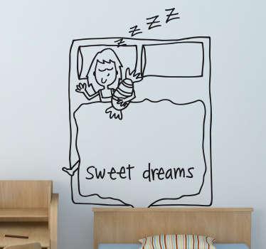 Adesivo murale bambina che dorme