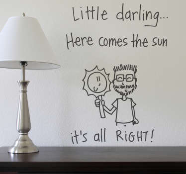 Here Comes the Sun Wall Sticker
