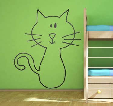 Wall sticker gatto