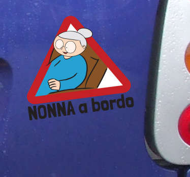 Sticker decorativo nonna a bordo