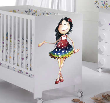 Little Girl in Dress Kids Decal