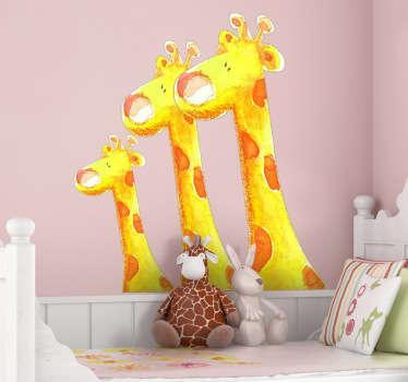 Kids Three Giraffes Wall Sticker