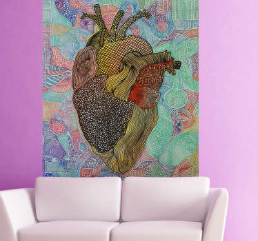 Naklejka na ścianę twórcze serce