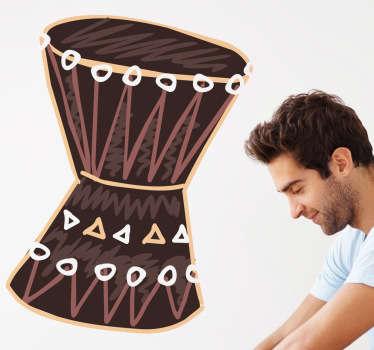 African Drum Wall Sticker
