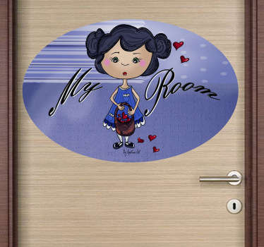 A great kids wall sticker to decorate their door! Give their bedroom a personalised appearance and a fun atmosphere with this design.