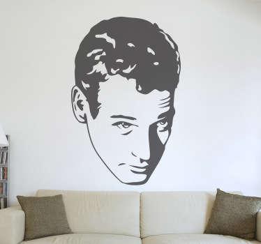 Stencil muro ritratto Paul Newman