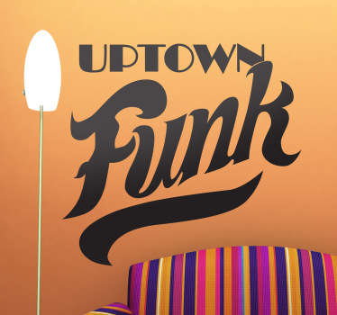 Uptown Funk Text Sticker