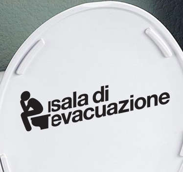 Sticker decorativo sala evacuazione