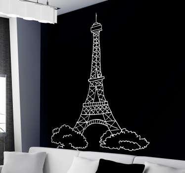Sticker dessin de la Tour Eiffel