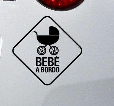 Adesivo auto bebè a bordo carrozzina