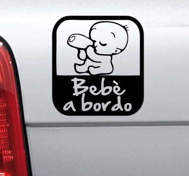 Sticker decorativo logo bebè a bordo