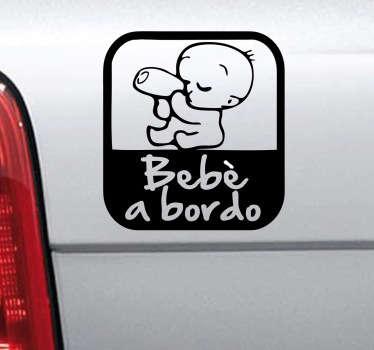 Sticker decorativo logo bebè a bordo