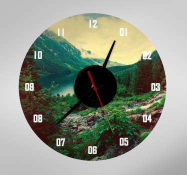 Sticker horloge personnalisé