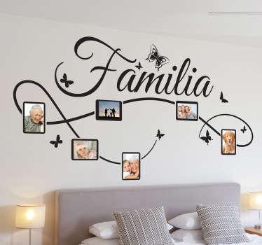 Dekorativer Aufkleber Familie